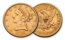 1885 S $ 5 Gold Liberty