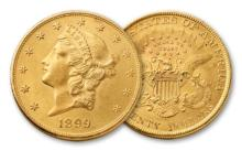 1899 $ 20 Gold Liberty Double Eagle