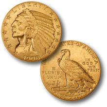 1908 D $ 5 Gold Indian Better Date