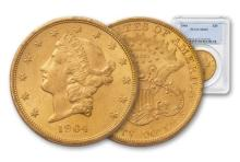 1904 MS 62 PCGS $ 20 Gold Liberty