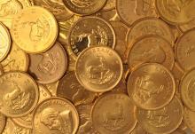 (5) Gold Krugerrand from Hoard -Random Dates