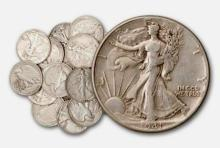 Lot of (20) Walking Libery Halves- 90% Silver