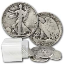 Roll of Walking Liberty Half Dollars - $10 Face