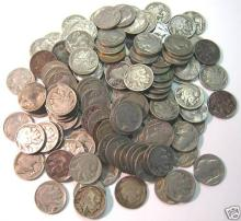 (50) Full Date Buffalo Nickels - Mixed Dates