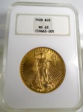 1928 MS 63 NGC $ 20 Saint Gauden's