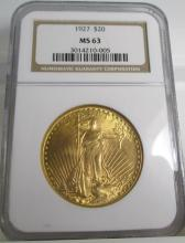 1927 MS 63 NGC $20 Saint Gauden's