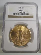 1925 MS 63 NGC $ 20 Saint Gauden's