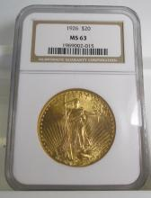 1926 MS 63 NGC $ 20 Saint Gauden's