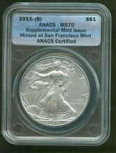 2011 MS 70 ANACS ASE