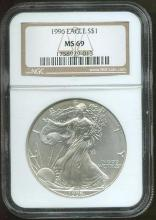 1996 MS 69 Silver Eagle NGC