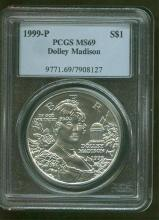 1999 P MS 69 Dolley Madison PCGS