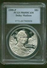 1999 P PRF 69 DCAM Dolley Madison PCGS