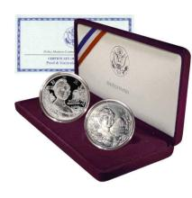 Dolley Madison 2 Coin Commemorative Silver