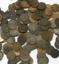 100 Mixed Date Indian Head Cents -