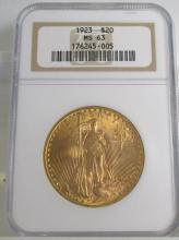 1923 MS 63 NGC $ 20 Gold Siant Gauden's