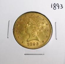 1893 $ 10 Gold Liberty Eagle