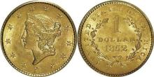 1851 Type 1 US Gold $1 Liberty Head Coin