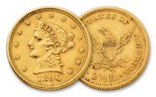 1890 $ 2.5 Gold Liberty