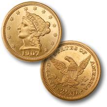 1907 Better Date $ 2.5 Gold Liberty High Grade