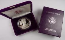 1986 US Silver Eagle Proof in Mint Case