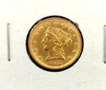 1852 Better Date $ 2.5 Gold Liberty