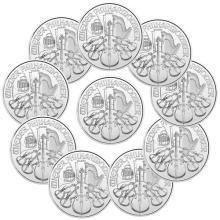 (10) 1 oz Silver Austrian Philharmonics