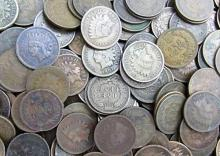 Lot of (100) Indian Head Cents- Mixed Date-Grade