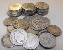 Lot of 50 Barber Dimes- Circulated-