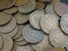 (100) Indian Head Cents - Random Dates