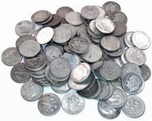 (100) Roosevelt 90% Silver Dimes - 1964-Previous