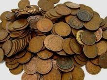 Lot of (100) Indian Head Cents- Circulated