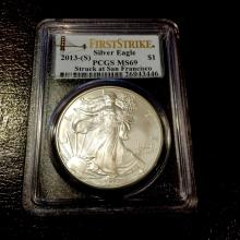 2013 S First Strikes PCGS MS 69 US Silver Eagle