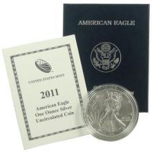 2011 W Burnished US Silver Eagle