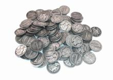 (100) Mercury Dimes- Random Dates 90% Silver