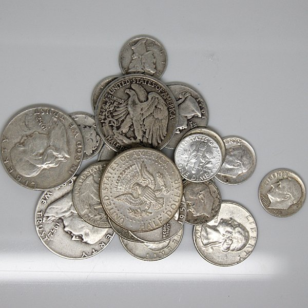 $5 Face Value -90% Silver Coinage Group