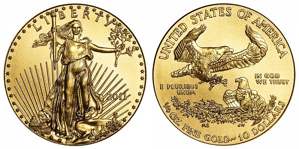 2011 One Quarter Ounce Gold American Eagle $10
