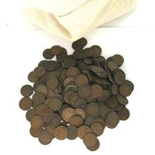 Lot of (100) Indian Head Cents in Bank Bag