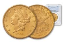 1904 MS 62 PCGS $ 20 Gold Double Eagle