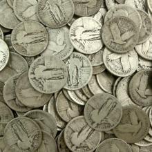 Lot of (100) Standing Liberty Quarter Dollars