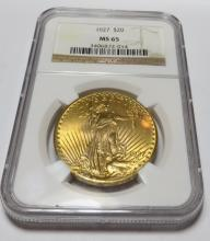 1927 MS 65 SUPER HIGH GRADE $20 Saint NGC