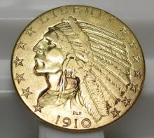 1910 $5 Gold Indian Half Eagle