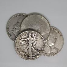 $2 Face Value -90% Silver Half Dollars