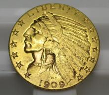 1909 $ 5 Gold Indian Half Eagle