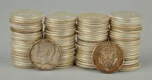 (100) 1964 Kennedy Half Dollars 90% Silver