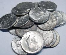 (20) 1964 Kennedy Half Dollars - 90% Silver