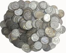 (100) Franklin Half Dollars -90% Silver -