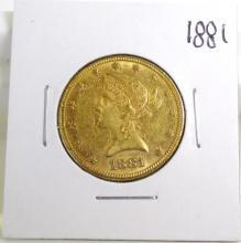 1881 $ 10 Gold Liberty