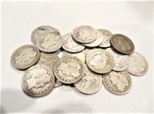 (25) Barber Quarters - 90% Silver Mixed Grades