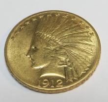 1912 $ 10 Gold Eagle Indian