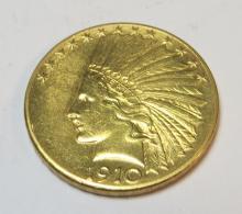1910 D $ 10 Gold Indian Eagle